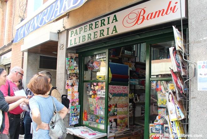 La llibreria Bambi de Barcelona on Gabo comprava els folis de 120 grams per escriure 'El otoño del patriarca'.