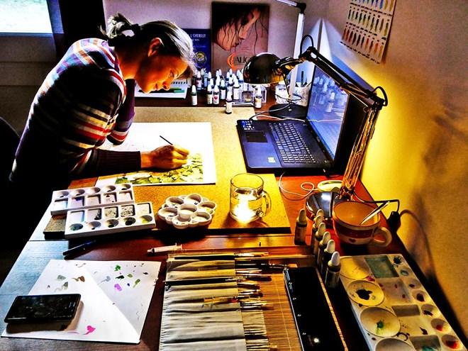 Araceli Segarra dibuixant 2