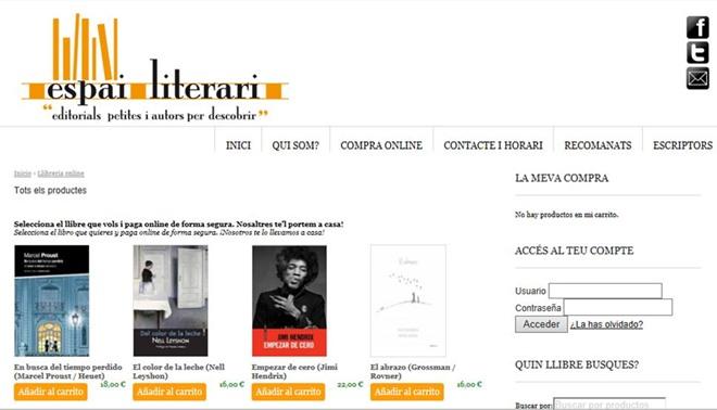 Espai literari captura web