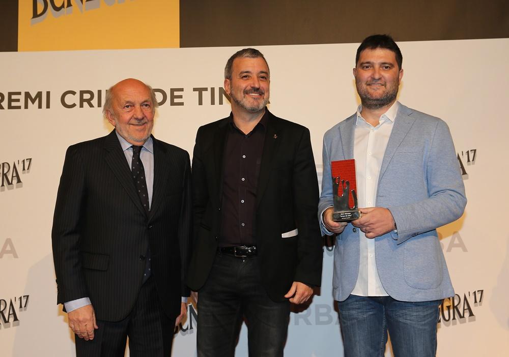 El president d'RBA, Ricardo Rodrigo, el  regidor de Cultura Jaume Collboni  i marc Moreno